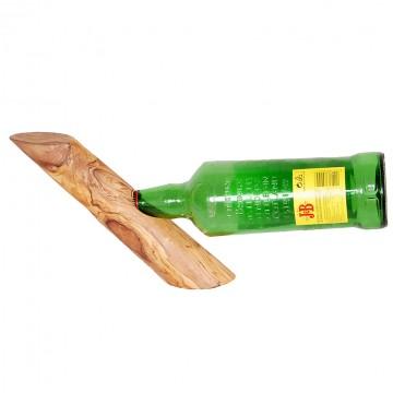 olive wood wine rack single 2