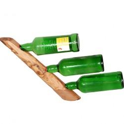 olive wood wine rack triple 2